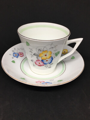 Hand Painted Flower Tea Cup