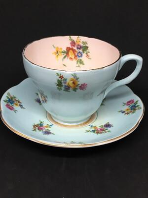 Foley Baby Blue Floral Teacup