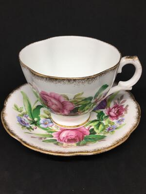 Royal Stuart Iris & Rose Teacup