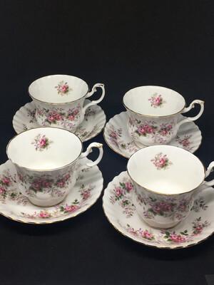 Set of 4 Royal Albert 'Lavender Rose'