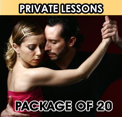Private Lesson. Package of 20 Lessons