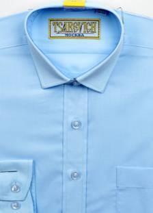 Сорочка мальчик, длинный рукав, приталенная, светло голубой. Артикул: 1274 slim