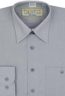Сорочка мальчик, длинный рукав, св. серый. Артикул: 17 Pale Grey BS17