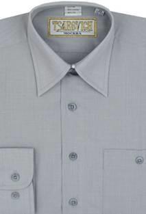 Сорочка мальчик, длинный рукав, св. серый. Артикул: 17 Pale Grey