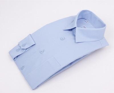 Сорочка мальчик, длинный рукав, голубая клетка. Артикул: 403070d