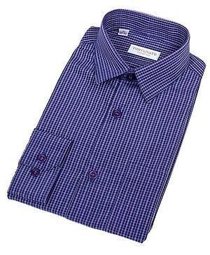 Сорочка мальчик, длинный рукав, св.голубой/клетка. Артикул: 408052d