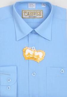 Сорочка мальчик, длинный рукав, голубой. Артикул: Alaska