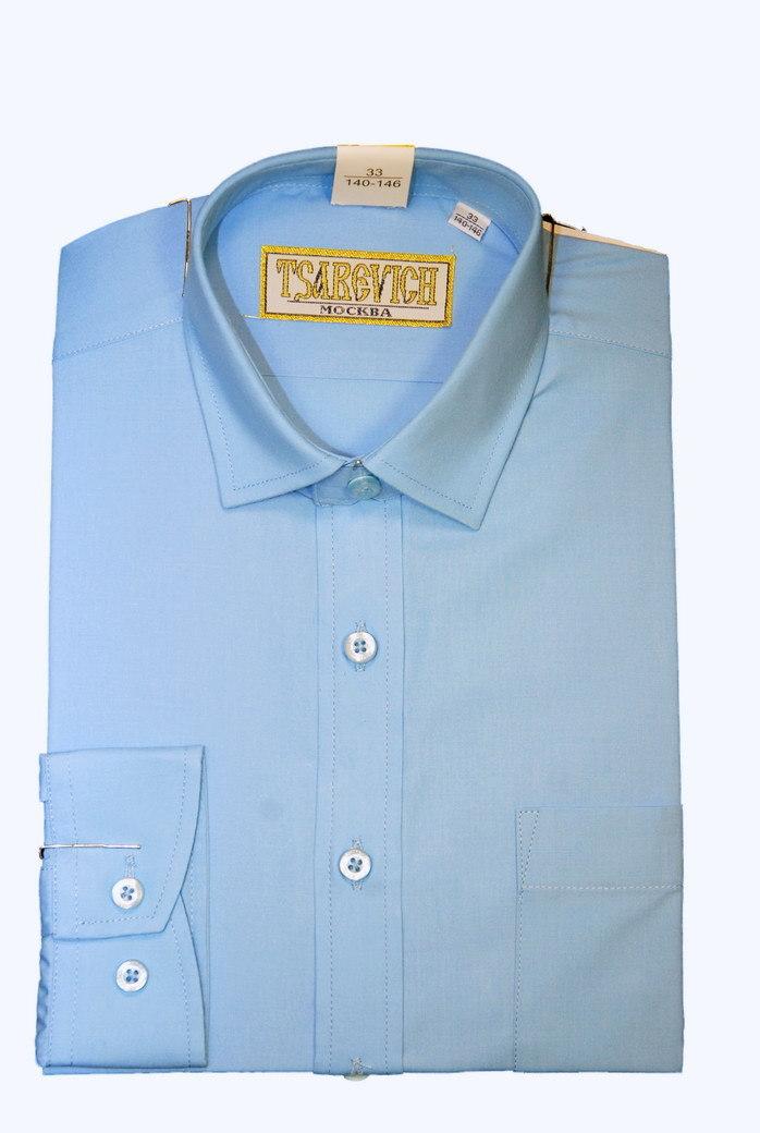 Сорочка мальчик, длинный рукав, голубой Артикул: Bell Blue BSBell
