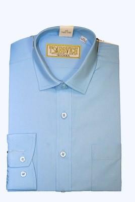 Сорочка мальчик, длинный рукав, голубой Артикул: Bell Blue