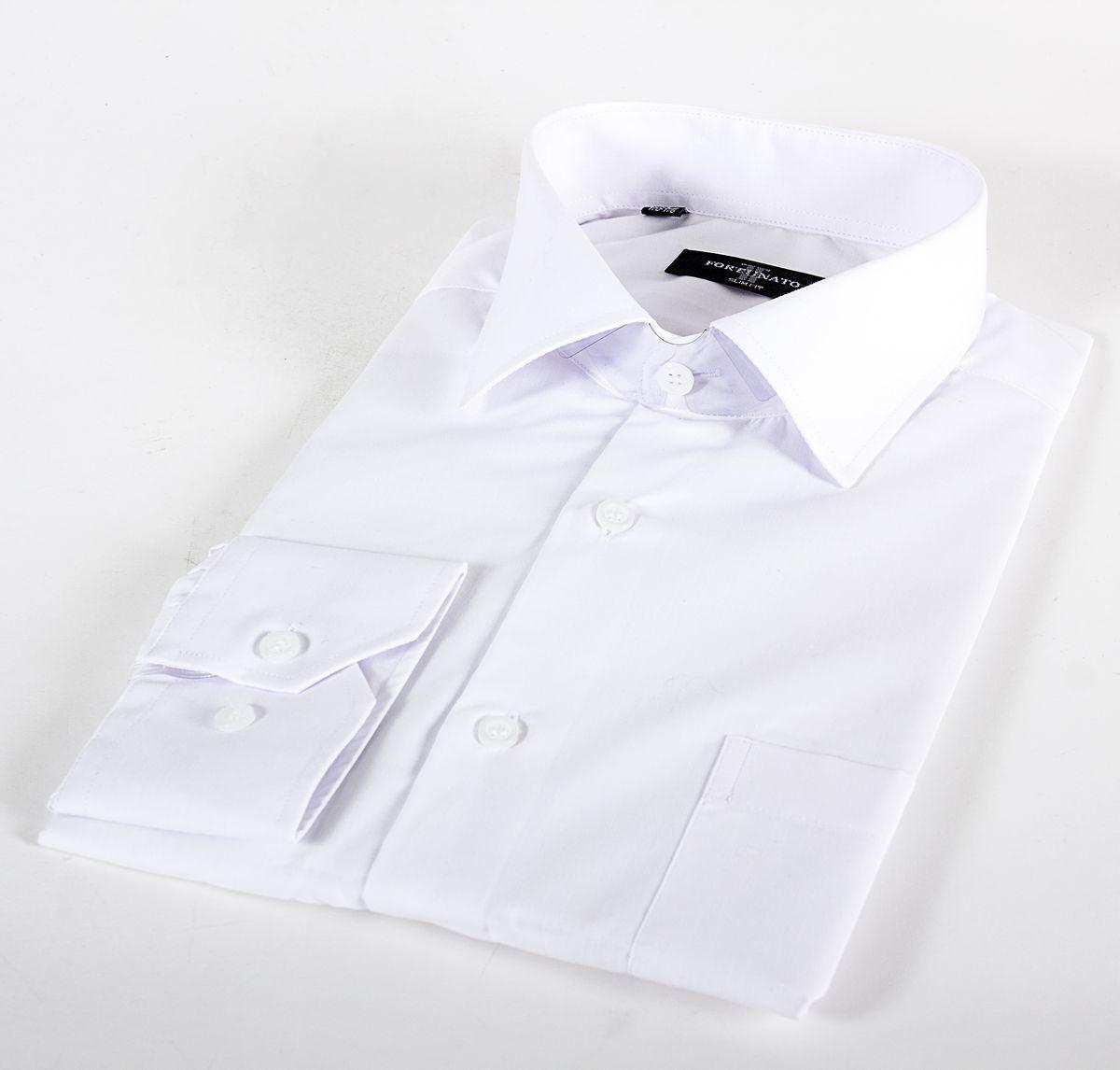 Сорочка мальчик, длинный рукав, белая. Артикул: DF0101d BSDF0101d