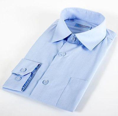 Сорочка мальчик, длинный рукав, св. голубая. Артикул: DF0305d