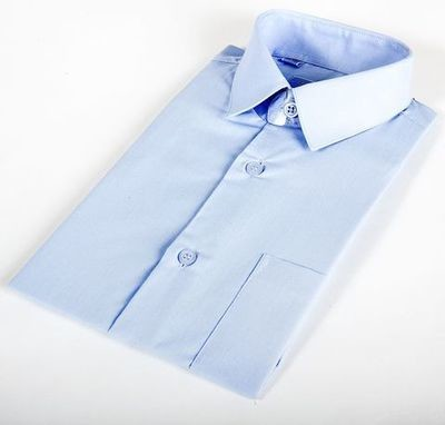 Сорочка мальчик, короткий рукав, св. голубой. Артикул: DF0305ds