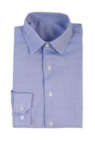 Сорочка мальчик, длинный рукав, синий/выработка. Артикул: DL00C703058FR