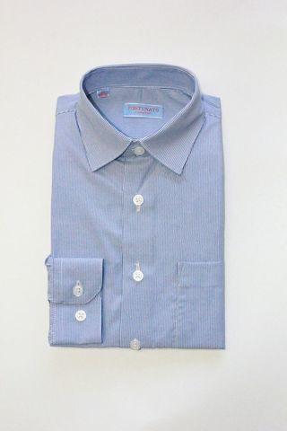 Сорочка мальчик, длинный рукав, приталенная, голубой/полоска. Артикул: DL00C83BN110DFR_SL BSDL00C83BN110DFR