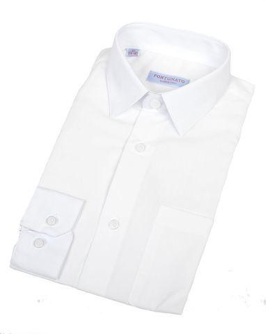 Сорочка мальчик, длинный рукав, приталенная, белая. Артикул: DL00R82DN001AFR_SL BSDL00R82DN001AFR