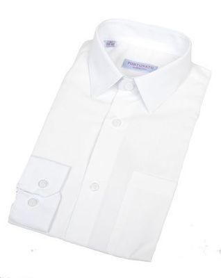 Сорочка мальчик, длинный рукав, приталенная, белая. Артикул: DL00R82DN001AFR_SL