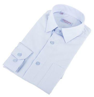 Сорочка мальчик, длинный рукав, приталенная, св.голубой. Артикул: DL00R82DN001CFR_SL