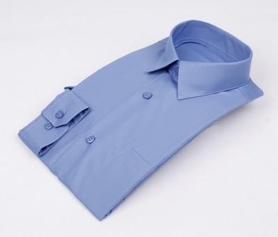 Сорочка мальчик, длинный рукав, приталенная, синий. Артикул: DL00R82MN001EFR_SL