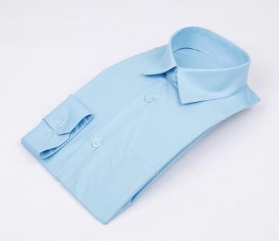 Сорочка мальчик, длинный рукав, приталенная, бирюза. Артикул: DL00R82MN001PFR_SL