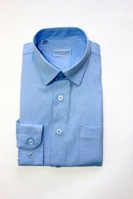 Сорочка мальчик, длинный рукав, приталенная, голубой. Артикул: DL00R83BN016CFR_SL