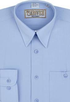 Сорочка мальчик, длинный рукав, голубой. Артикул: Dream Blue