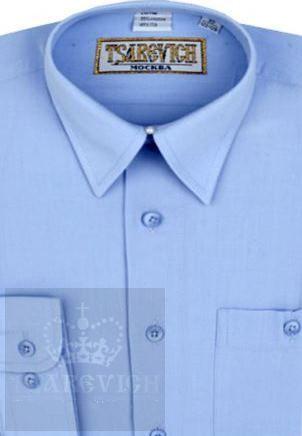 Сорочка мальчик, длинный рукав, приталенная, св. голубой. Артикул: Dream Blue slim BSDream Blue slim