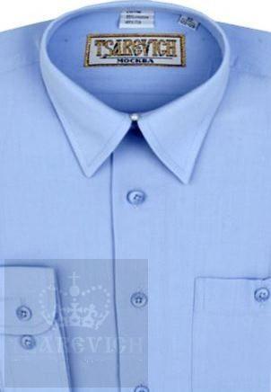 Сорочка мальчик, длинный рукав, приталенная, св. голубой. Артикул: Dream Blue slim