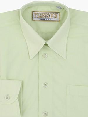 Сорочка мальчик, длинный рукав, зеленый. Артикул: Lime 26/764