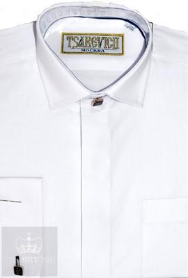 Сорочка мальчик, длинный рукав, белый. Артикул: PT2000