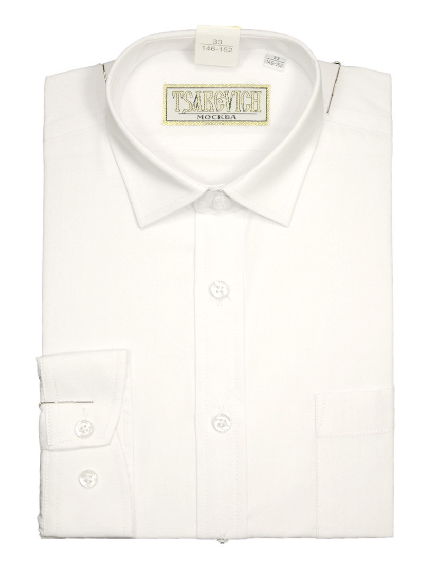 Сорочка мальчик, длинный рукав, приталенная, белый. Артикул: PT2000_Slim BSPT2000_Slim