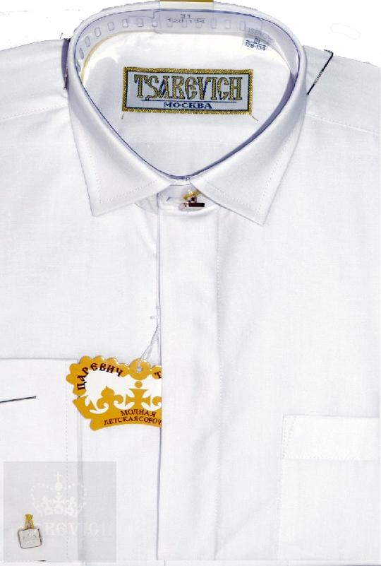 Сорочка мальчик, длинный рукав, белый. Артикул: PT2000-BW BSPT2000-BW