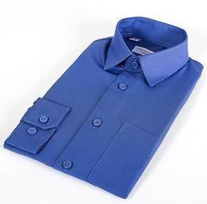 Сорочка мальчик, длинный рукав, т.синий/полоска. Артикул: T48105178d