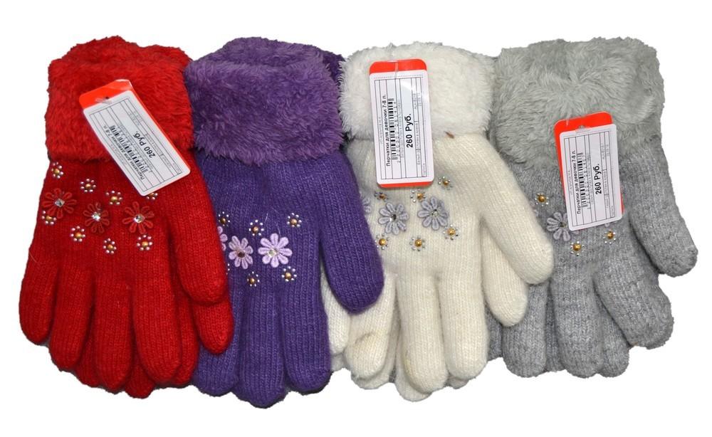 Перчатки для девочки 7-8 лет ALK-B218-3