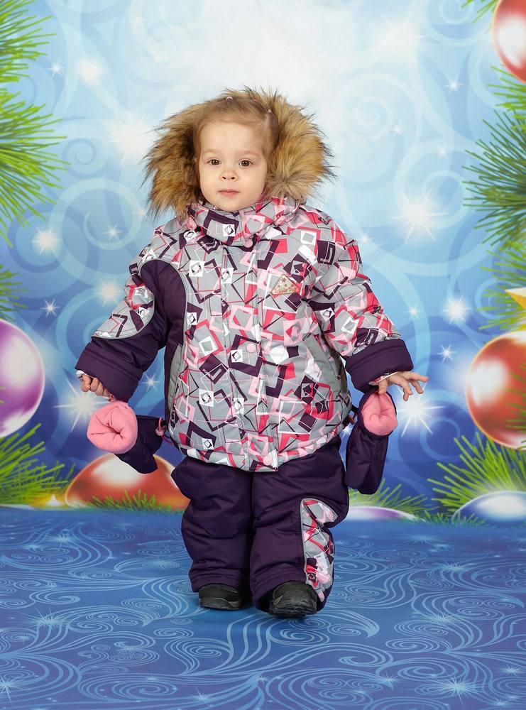 Комбинезон зимний для мальчиков и девочек ALK-3188фиол