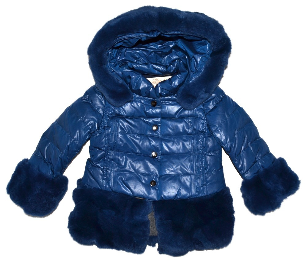 Куртка зимняя для девочки ALK-6528син