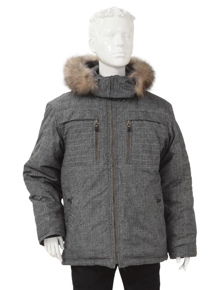 Куртка зимняя для мальчика YS-КД770сер