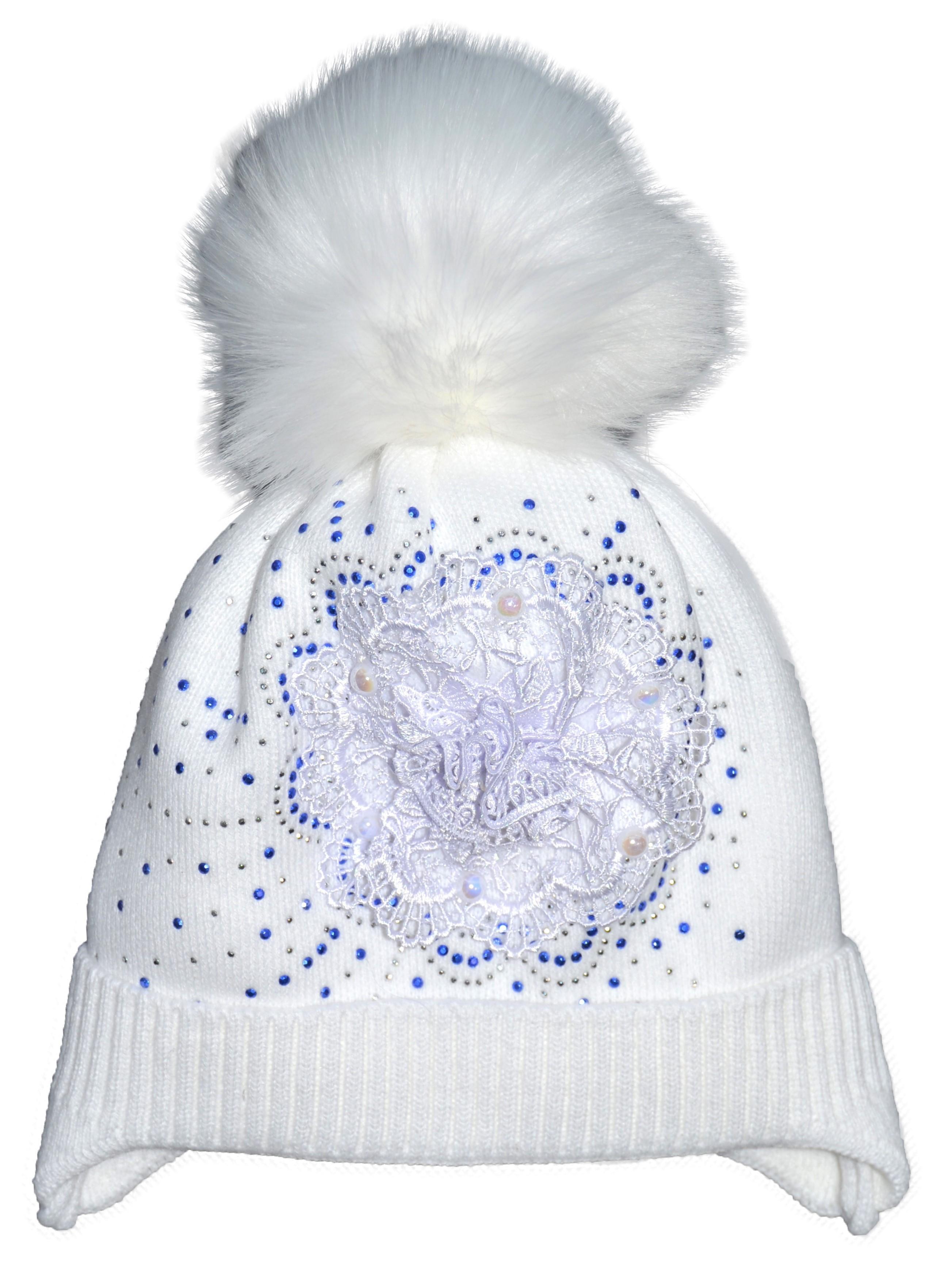 Шапка зимняя для девочки 5-8 лет ALK-519-18