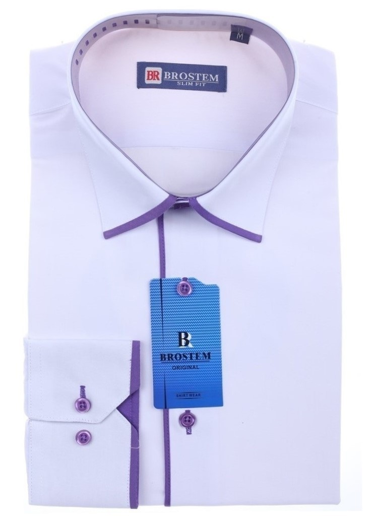 Рубашка для мальчика YS-Н5019D-5фиол