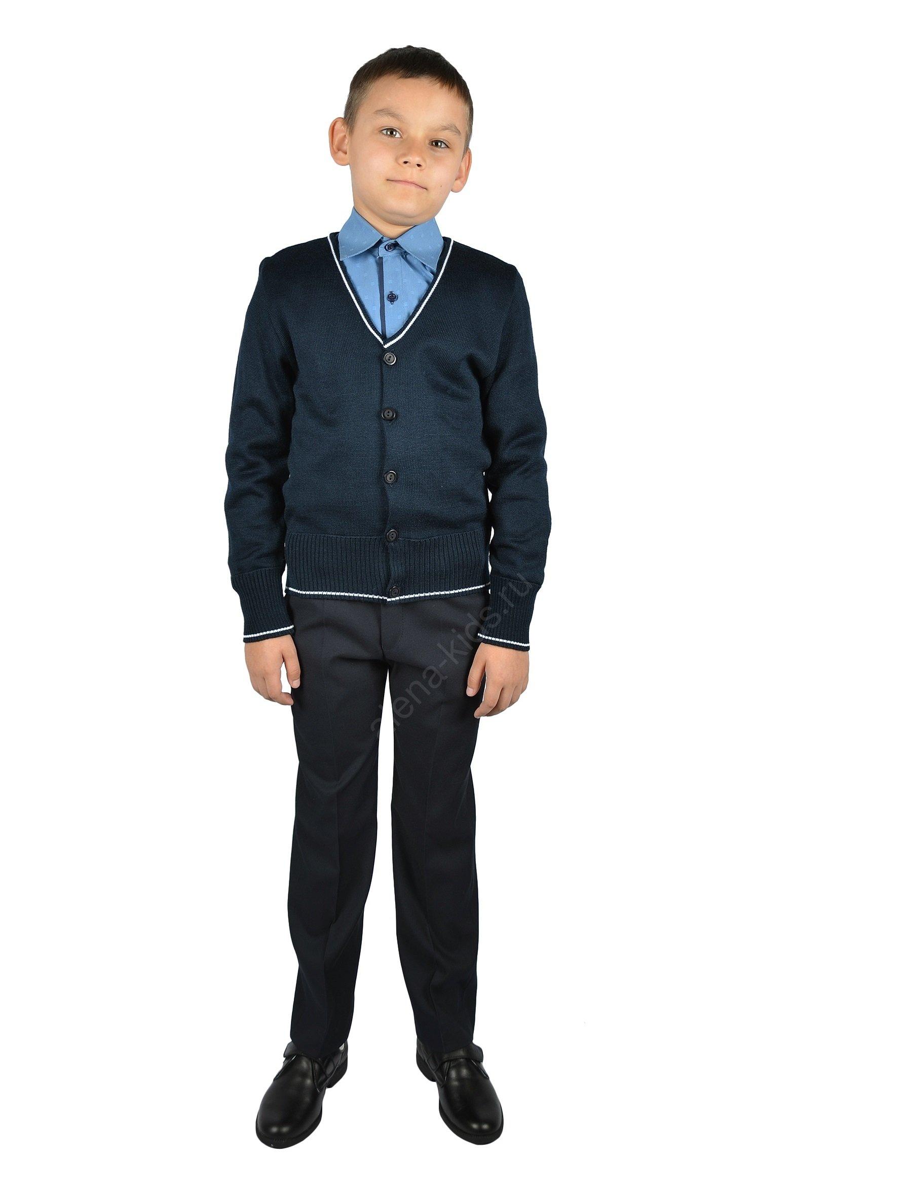 Жакет для мальчика YSTT-ЖКД-3т-син