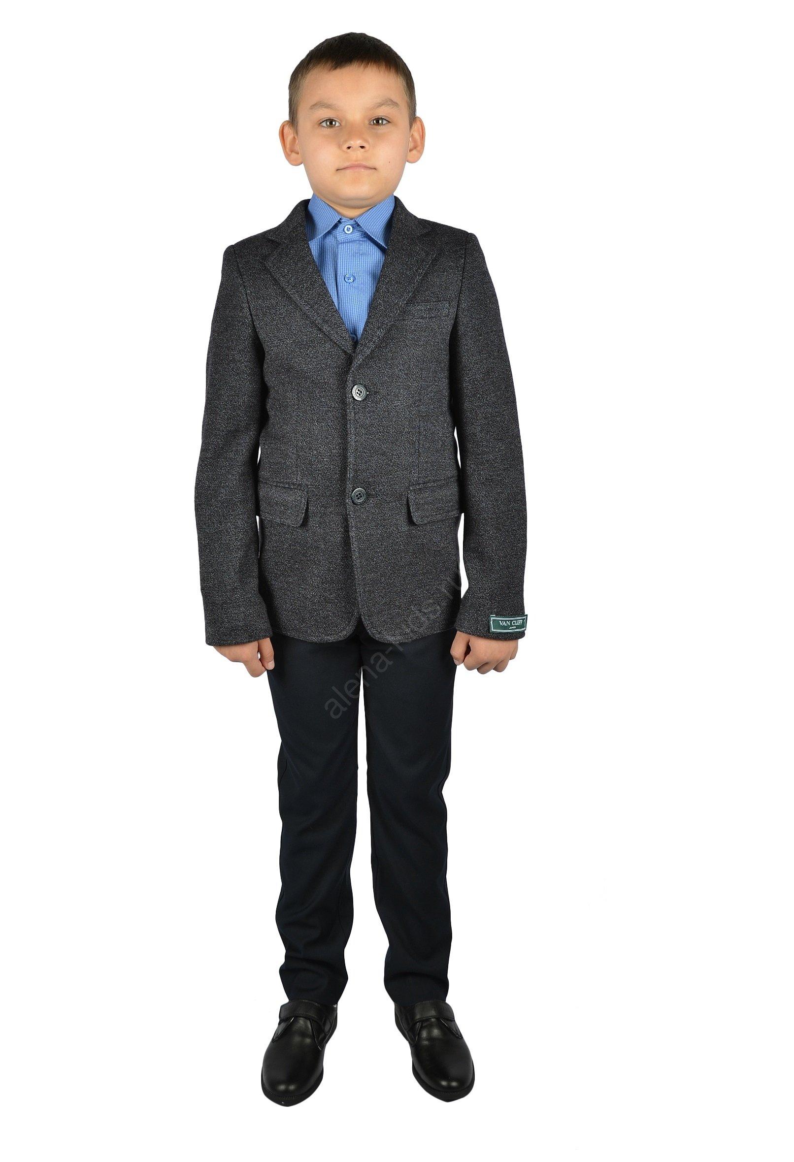 Пиджак для мальчика подростковый YSVC91024сер