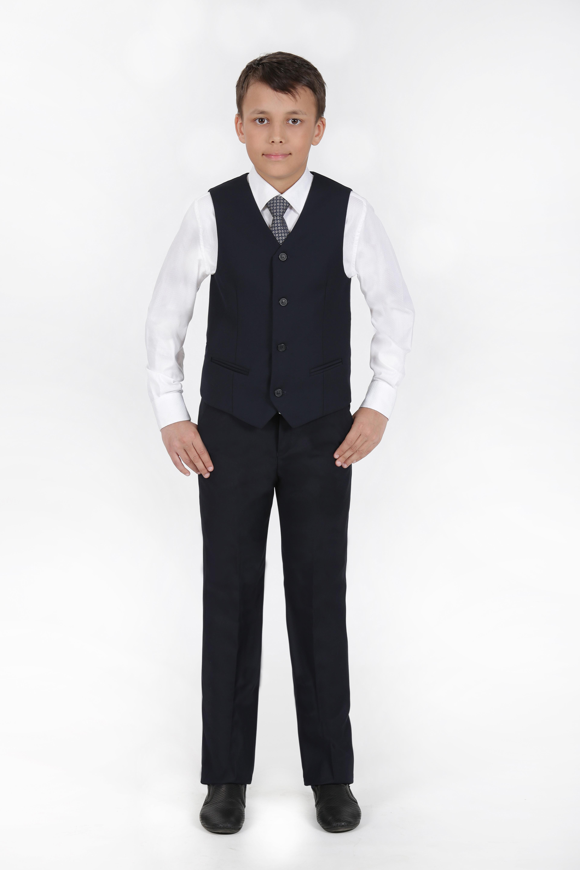 Жилет подростковый для мальчика YSVC91007син