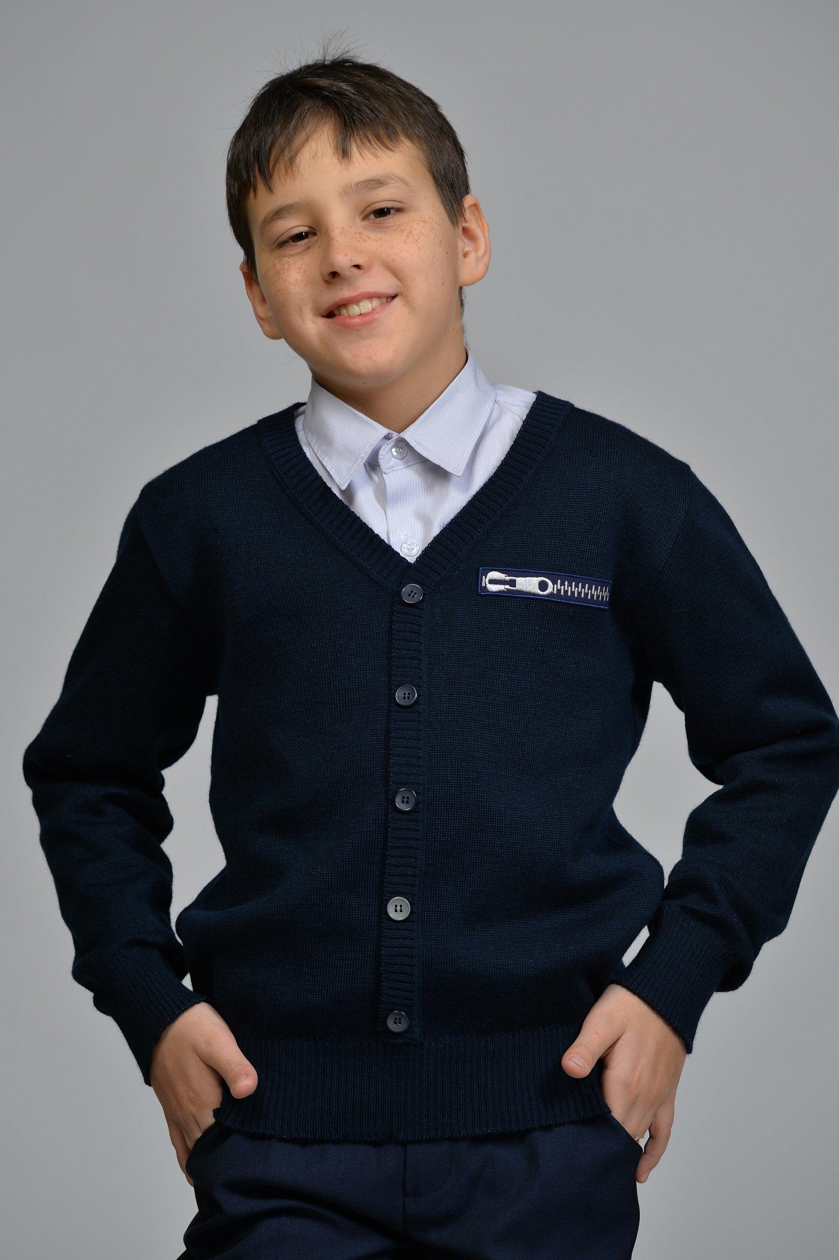 Пуловер для мальчика DSDT213син