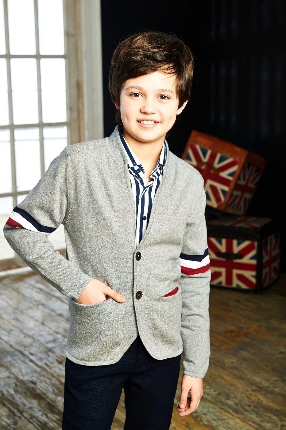 Пиджак вязаный для мальчика ALLKC93077