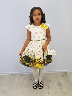 Платье для девочки Лия жемчуг