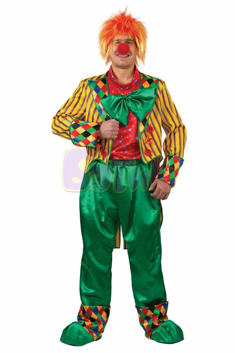 Клоун Кеша желтый текстиль