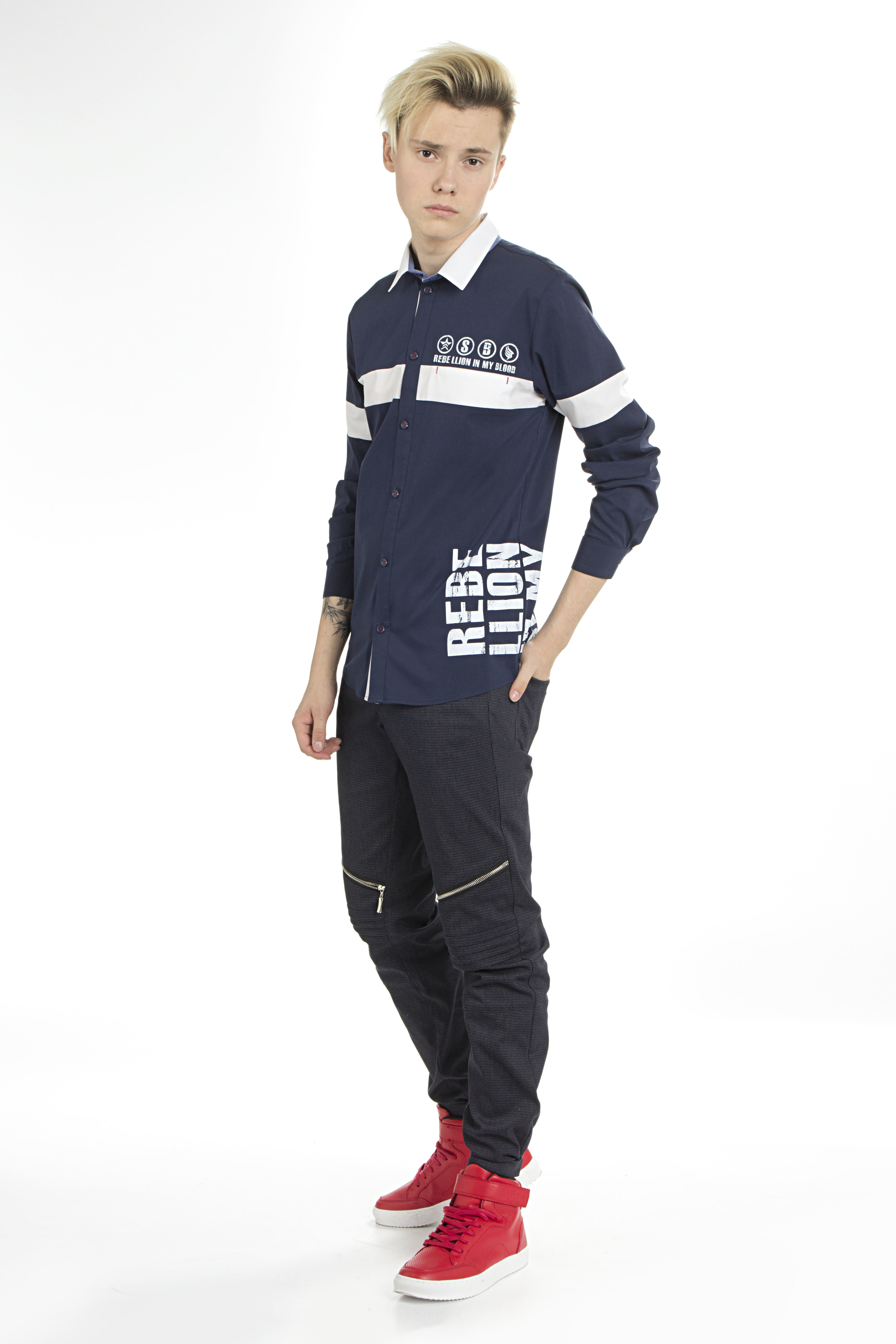 Рубашка для мальчика DSSB161-42A