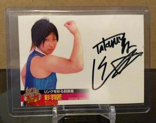 Takumi Iroha 2013 Stardom Official Card Set Autograph