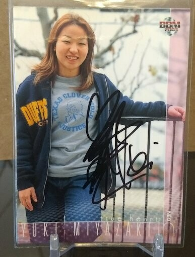 Yuki Miyazaki 2003 BBM Joshi True Heart Autograph /115