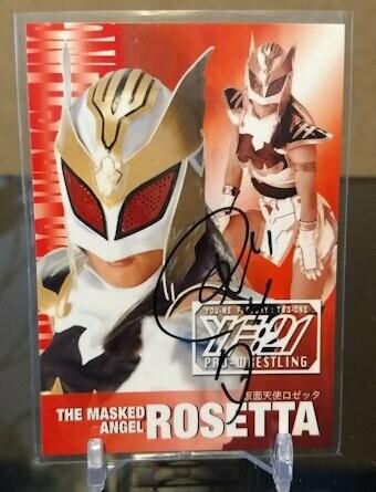 Masked Angel Rosetta (Hiromi Yagi) 2001 Future Bee Autograph