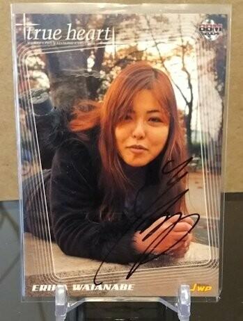 Erika Watanabe 2004 BBM Joshi True Heart Autograph /80